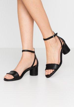 SLFMERLE  - Sandaalit nilkkaremmillä - black