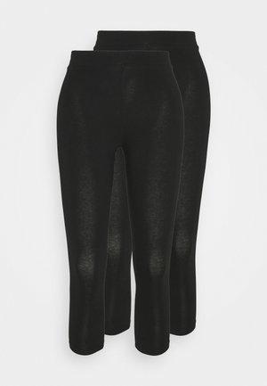 BASIC 2 PACK - Leggings - black