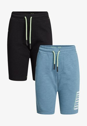 2 PACK - Shorts - black/light blue