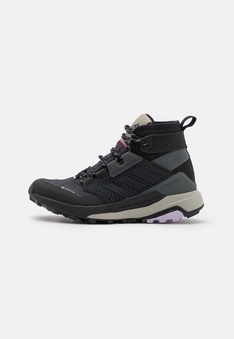 adidas Performance - TERREX TRAILMAKER MID GORE-TEX - Hiking shoes - grey six/core black/purple tint