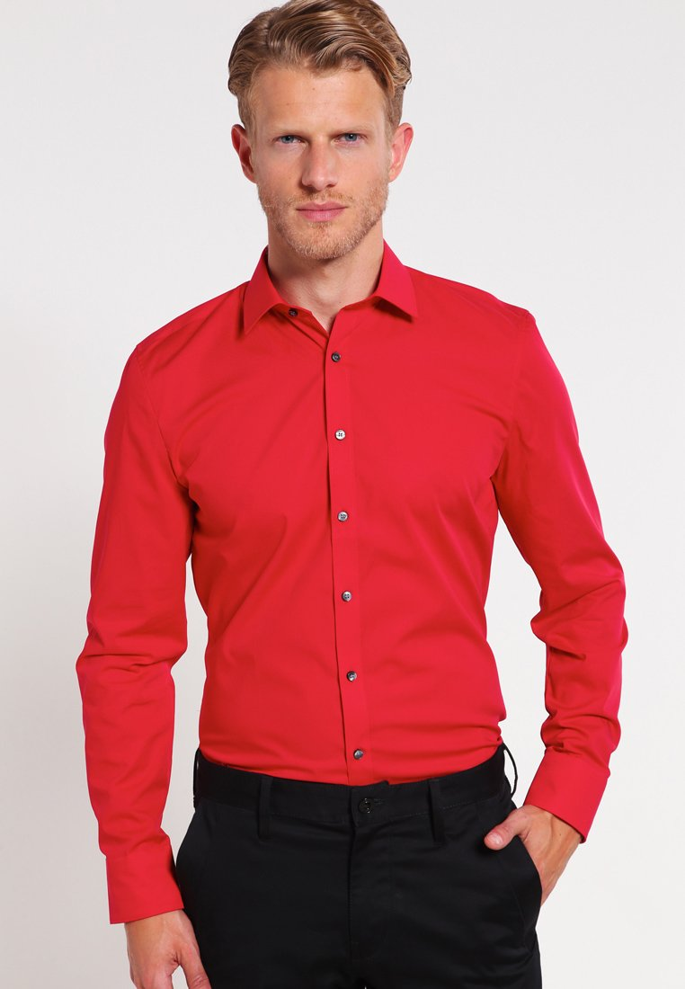 OLYMP - OLYMP NO.6 SUPER SLIM FIT - Koszula biznesowa - rot