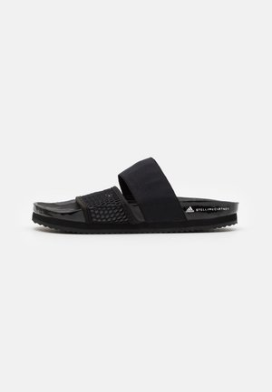 ASMC LETTE - Pool slides - core black/footwear white
