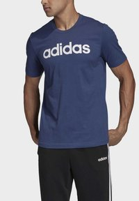 adidas Performance - ESSENTIALS LINEAR LOGO T-SHIRT - T-shirts med print - blue - 4