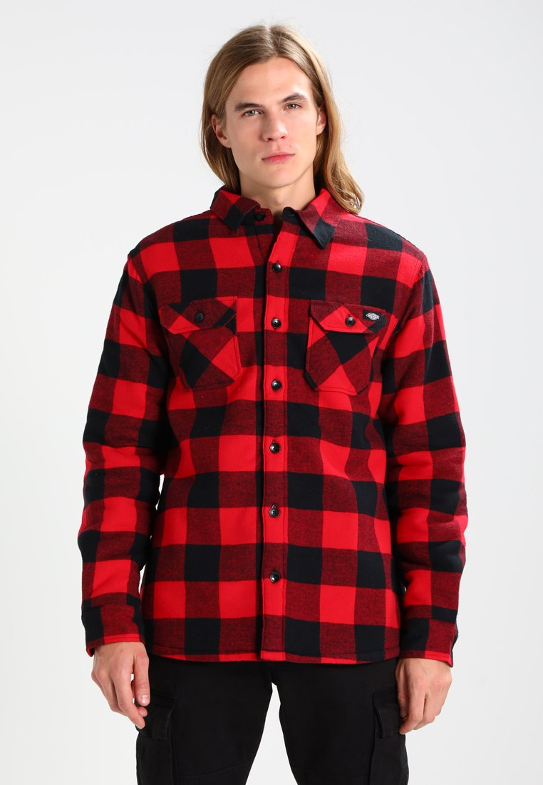 Dickies - LANSDALE SHERPA LINED  - Shirt - red