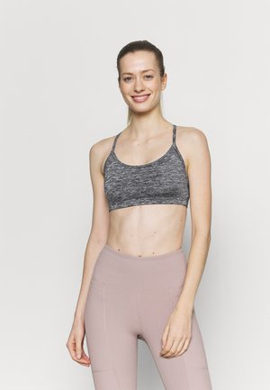 WORKOUT YOGA CROP - Light support sports bra - salt/pepper