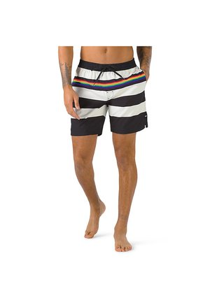 MN PRIDE STRIPE VOLLEY - Swimming shorts - black/rainbow