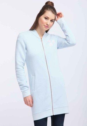 Mikina na zip - mottled light blue