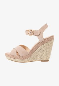 Anna Field - LEATHER - High heeled sandals - nude - 1