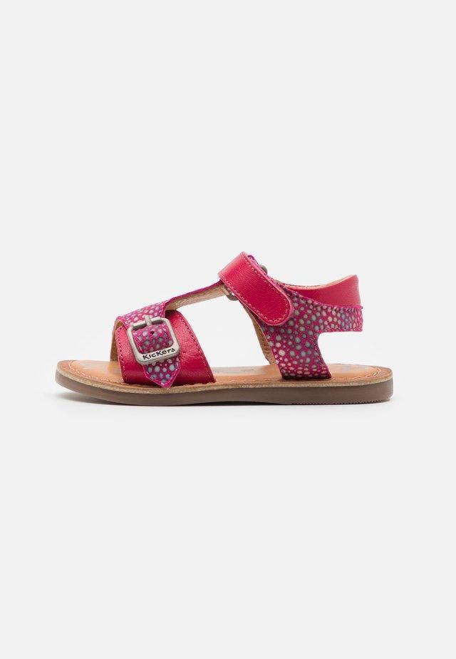 DIAZZ - Sandales - rose fonce imprime