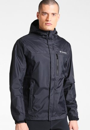 POURING ADVENTURE JACKET - Hardshell jacket - black