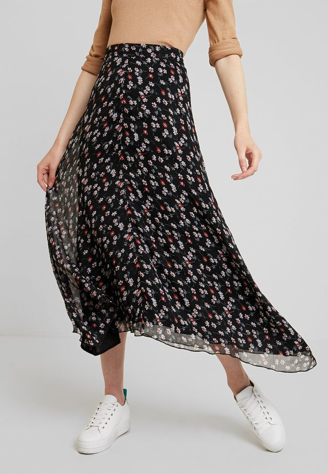 CAYA - Maxi skirt - black