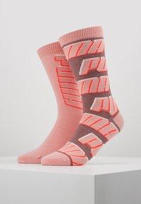Puma - ALL OVERLOGO 2 PACK - Sports socks - rose water - 0