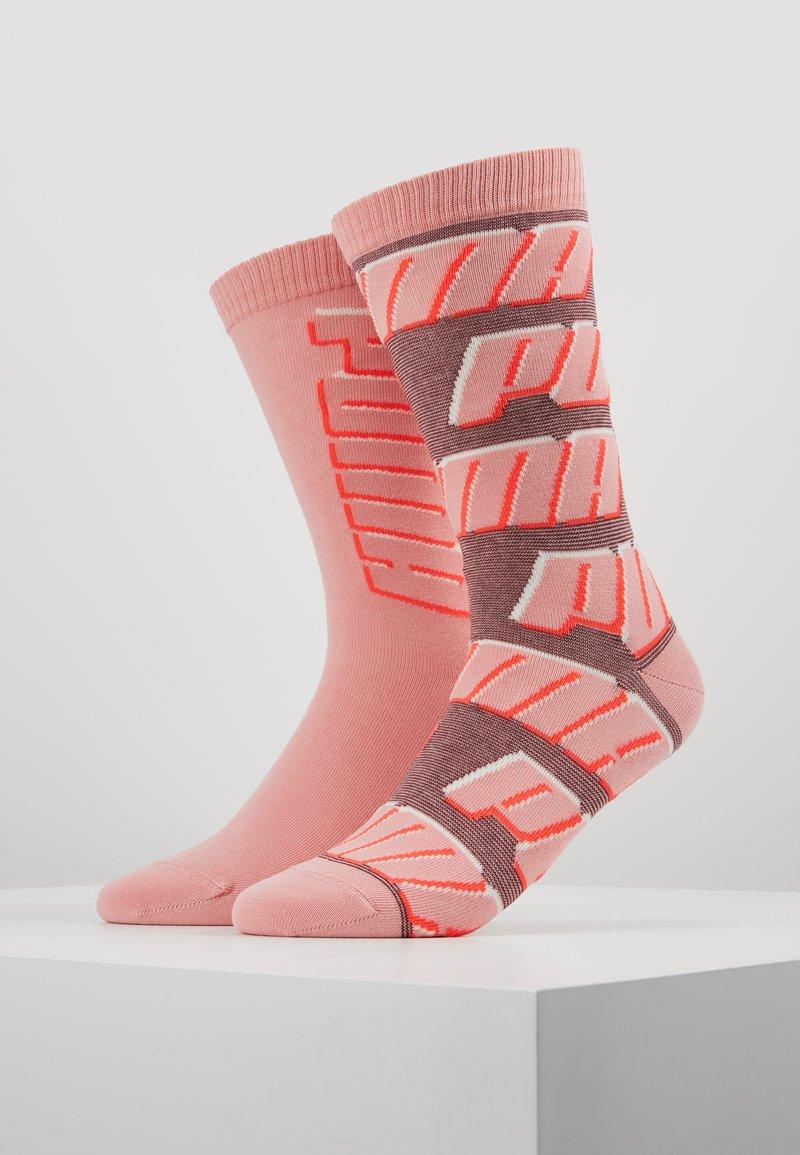 Puma - ALL OVERLOGO 2 PACK - Sports socks - rose water