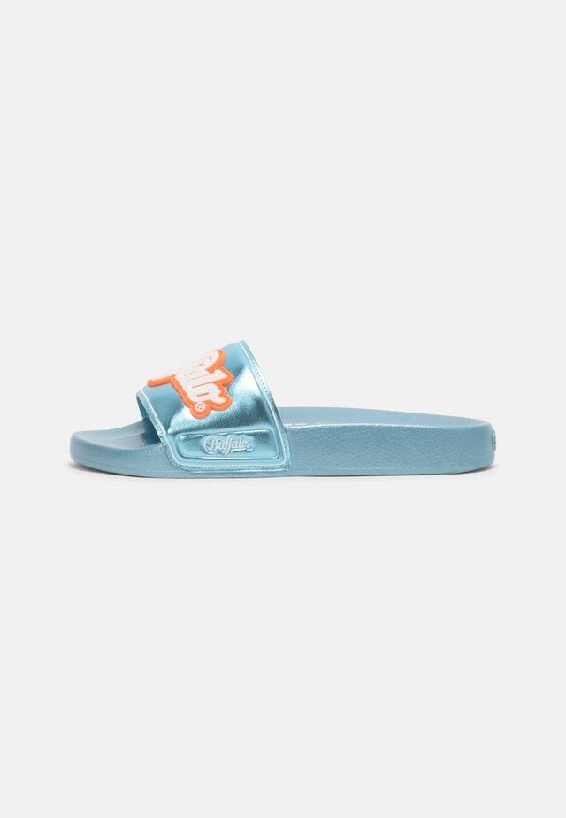 VEGAN RANA - Slip-ins - blue metallic