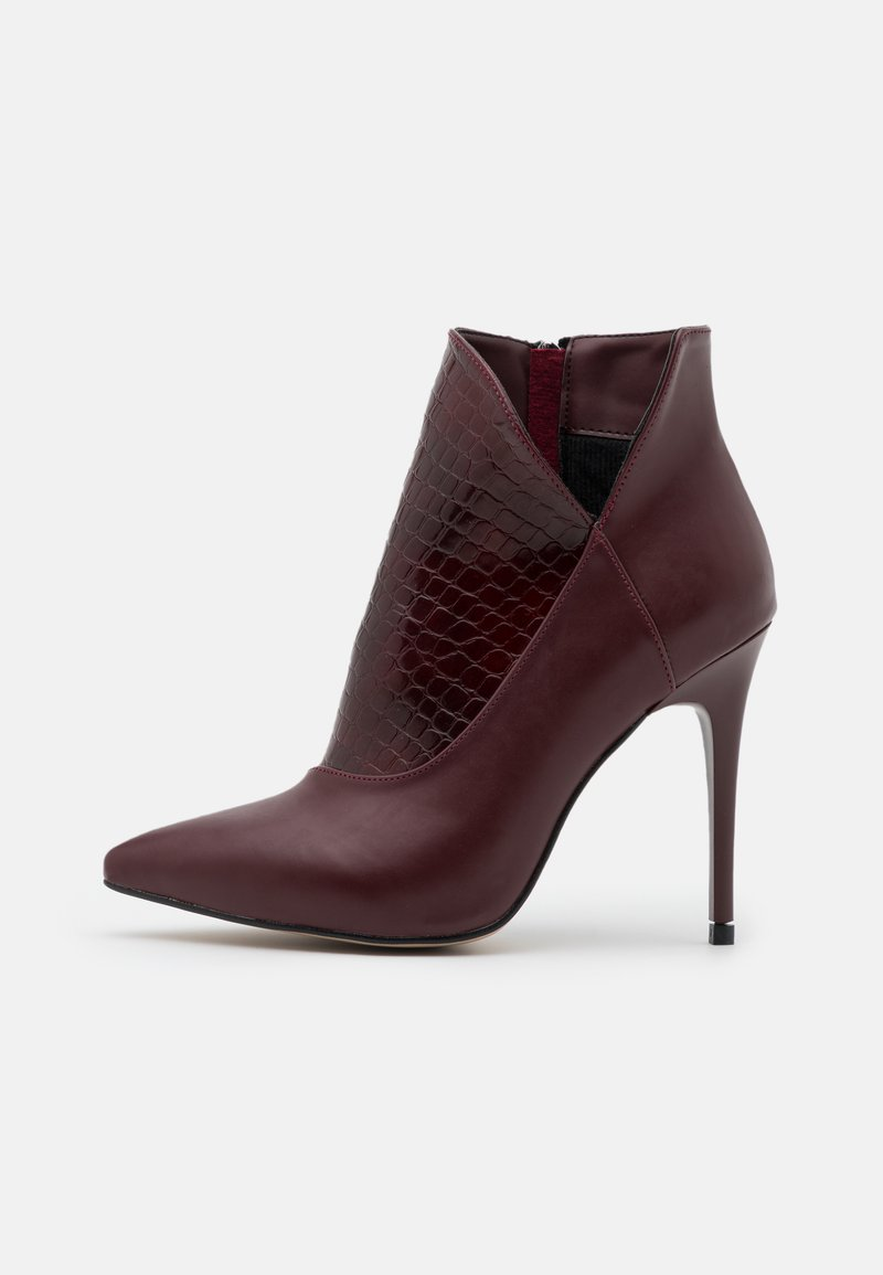 Trendyol - High heeled ankle boots - burgundy