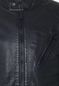 JOOP! Jeans - LIMA - Kožená bunda - dark navy - 6