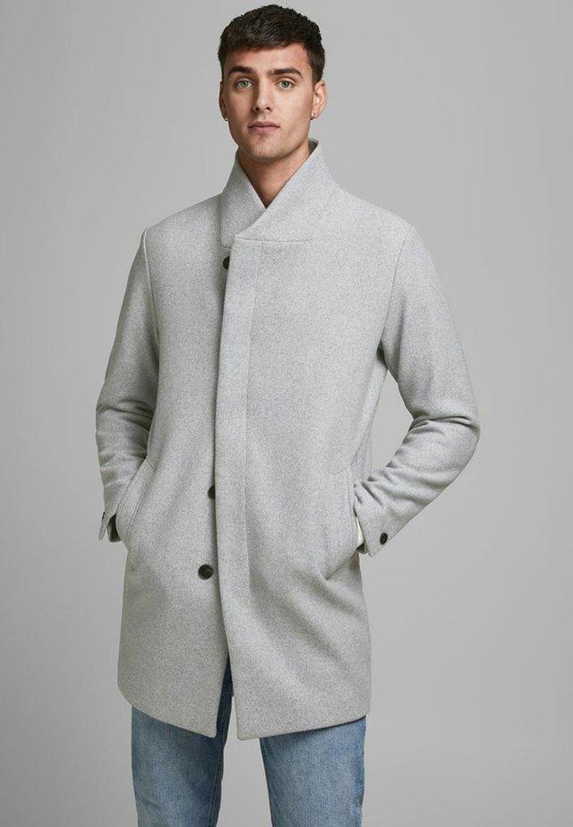 J&J - Classic coat - light grey melange