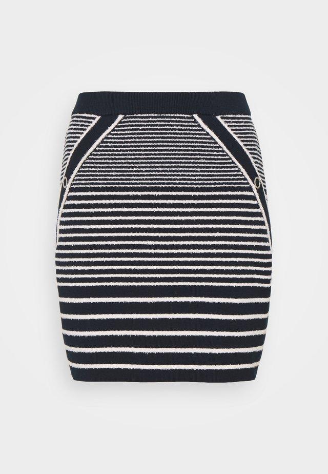 JIBIZA - Mini skirt - marine/ecru
