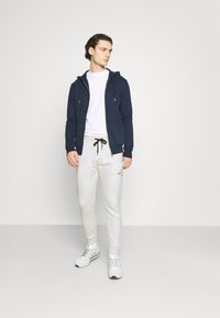Hollister Co. - ICONIC PRINT - Tracksuit bottoms - texture grey - 1