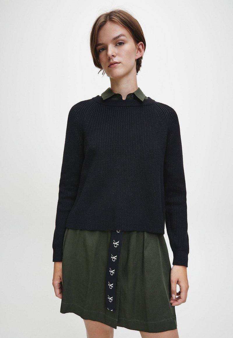 Calvin Klein Jeans - RELAXED  - Jumper - ck black