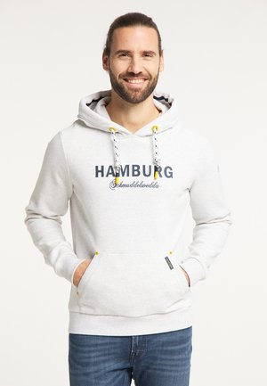 HAMBURG - Bluza z kapturem - wollweiss melange