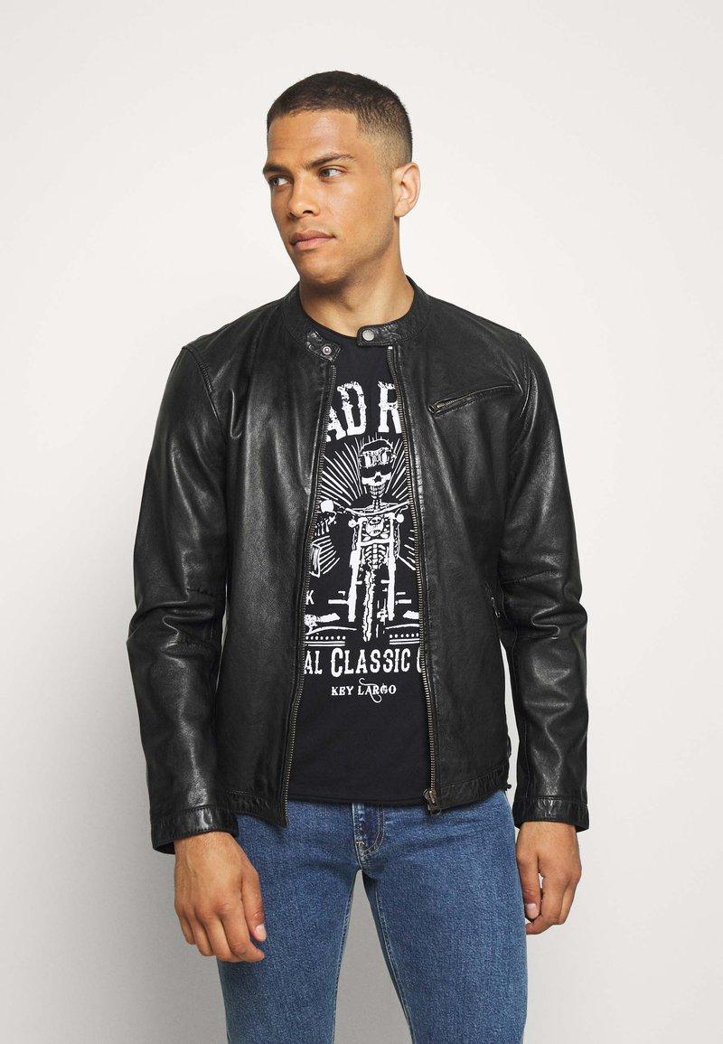 Freaky Nation - EASY JIM - Leather jacket - black