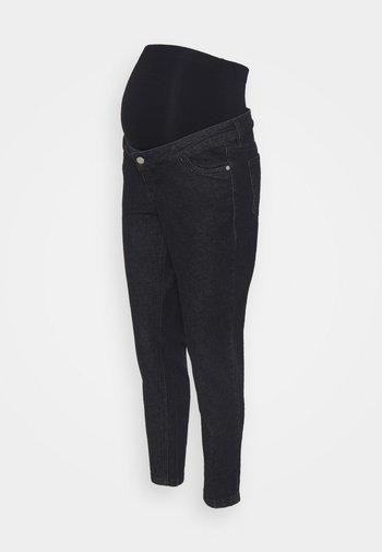 MOM - Jeansy Straight Leg - washed black