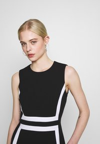 Calvin Klein - CONTRAST PANEL DRESS NS - Day dress - black - 4