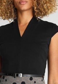 Anna Field - Shift dress - black/rose - 5