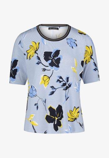 Print T-shirt - light blue cream
