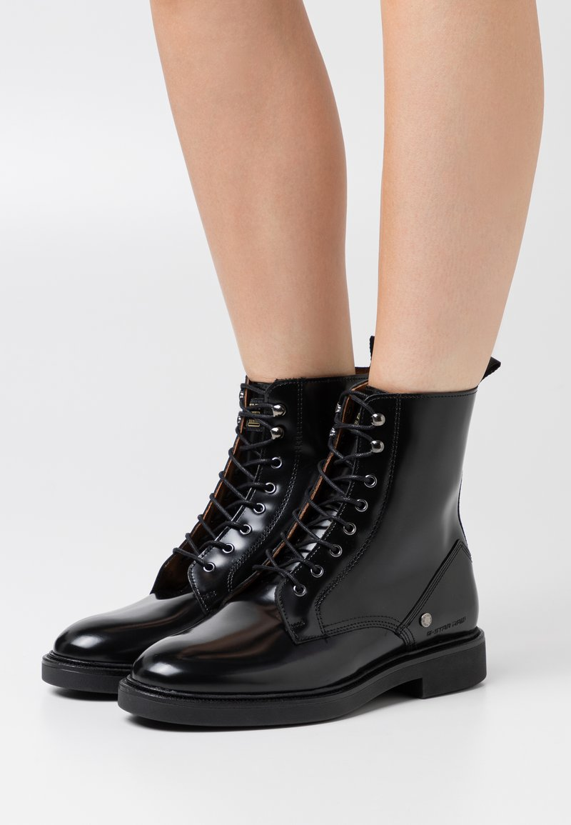 G-Star - CORBEL BOOT - Lace-up ankle boots - black