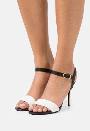 GWEN - High heeled sandals - vanilla/black/gold