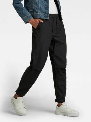 ELASTICATED WAIST - Trousers - dk black