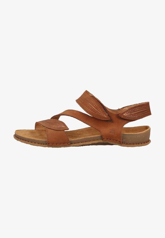 Sandalen met plateauzool - wood