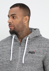Superdry - LABEL ZIPHOOD - Zip-up hoodie - flint grey grit - 3
