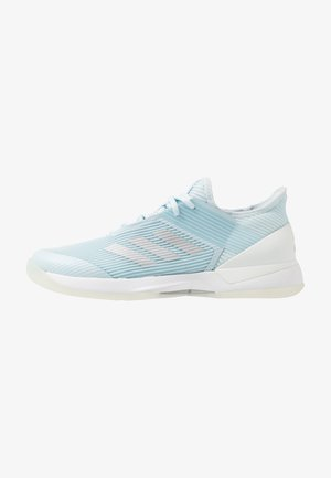ADIZERO UBERSONIC 3 - Multicourt tennis shoes - sky tint/silver metallic/footwear white