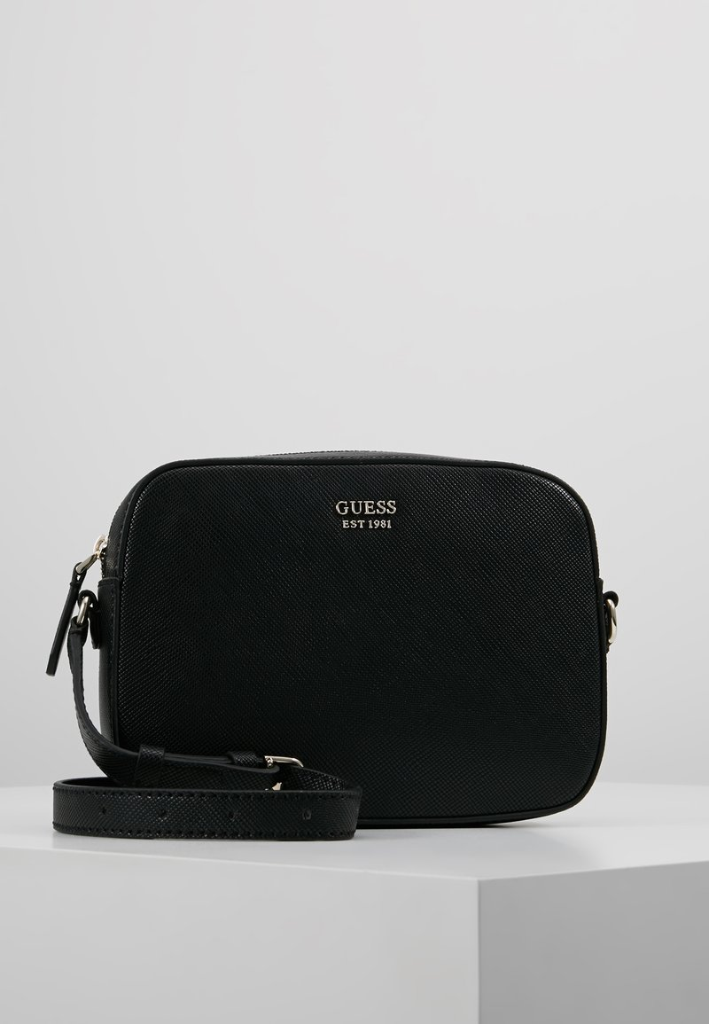 Guess - KAMRYN TOP ZIP CROSSBODY - Across body bag - black