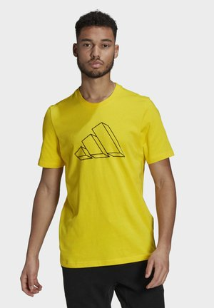 FI GRAPHIC BD MUST HAVES SPORTS REGULAR T-SHIRT - Print T-shirt - yellow