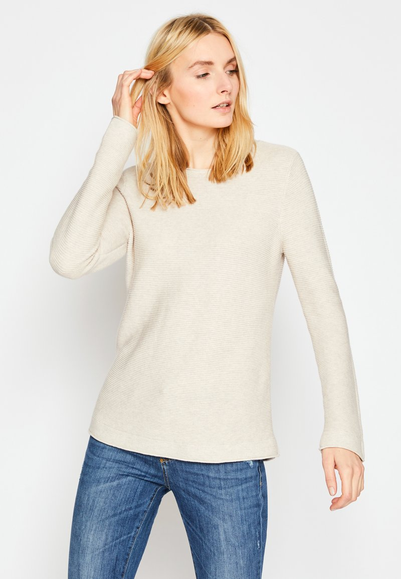 TOM TAILOR - SWEATER NEW OTTOMAN - Pullover - dusty alabaster melange
