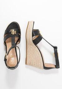 Lauren Ralph Lauren - HALE CASUAL - High heeled sandals - black - 3