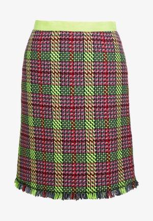 RINGA - A-line skirt - neon yellow