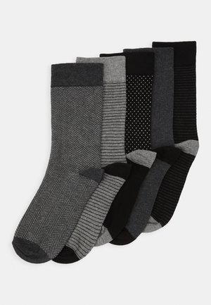 5 PACK - Calcetines - black