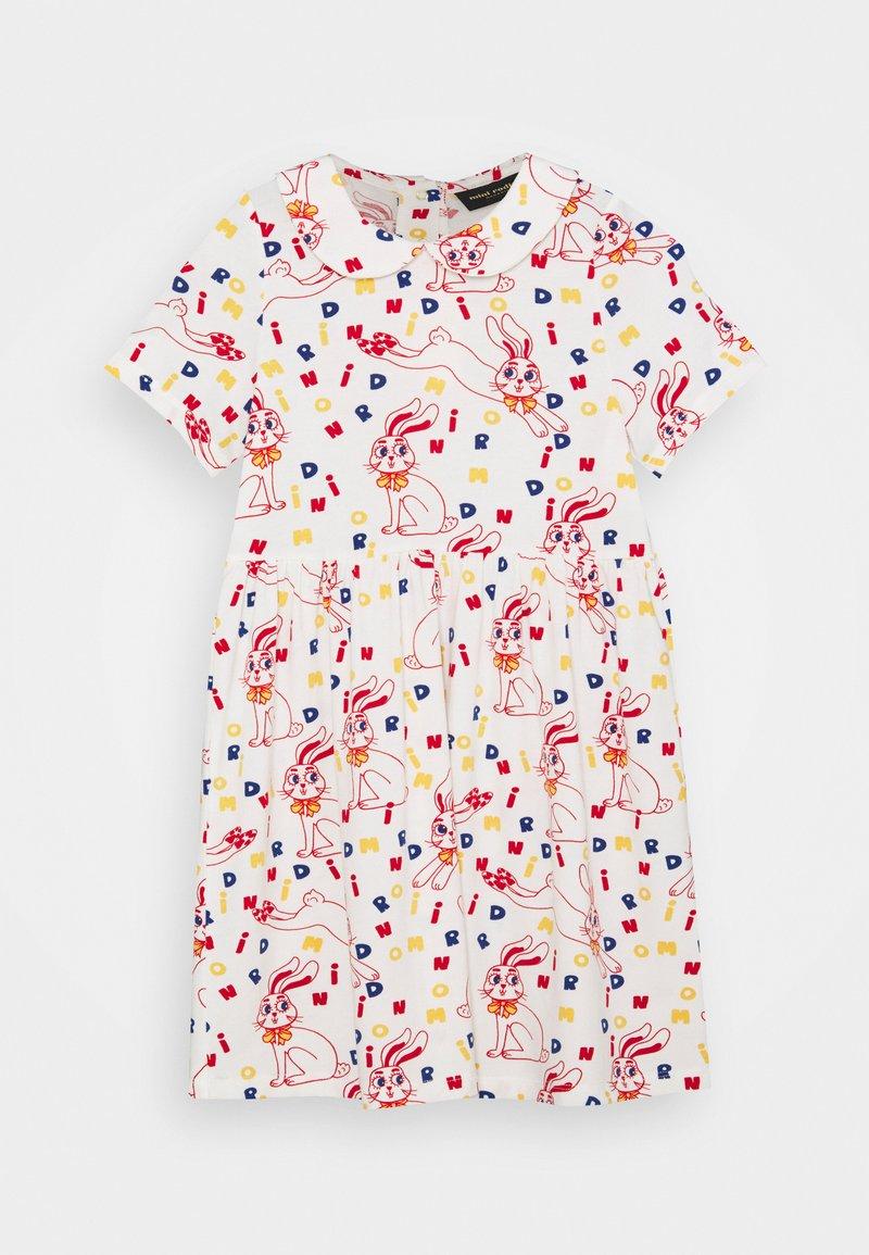Mini Rodini - RABBIT DRESS - Jersey dress - offwhite