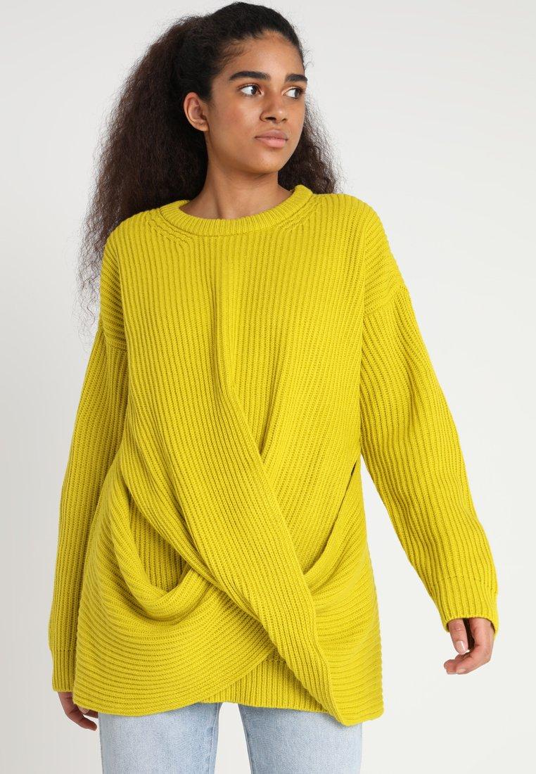 Urban Classics - LADIES WRAPPED - Sweter - lemonmustard
