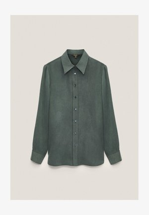 Button-down blouse - green