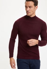 DeFacto - Stickad tröja - bordeaux - 0