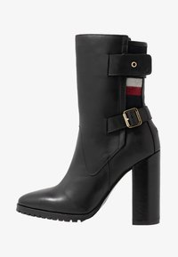 Tommy Hilfiger - MODERN BLANKET HIGH BOOTIE - High heeled ankle boots - black - 1