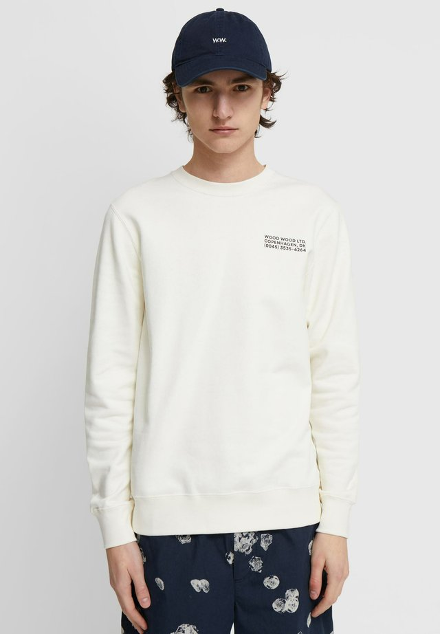 HUGH INFO  - Sweatshirt - off white