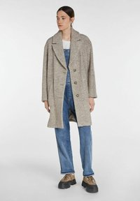 SET - Classic coat - offwhite brown - 1