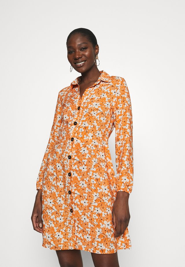 LONG SLEEVE DRESS - Shirt dress - autumn maple